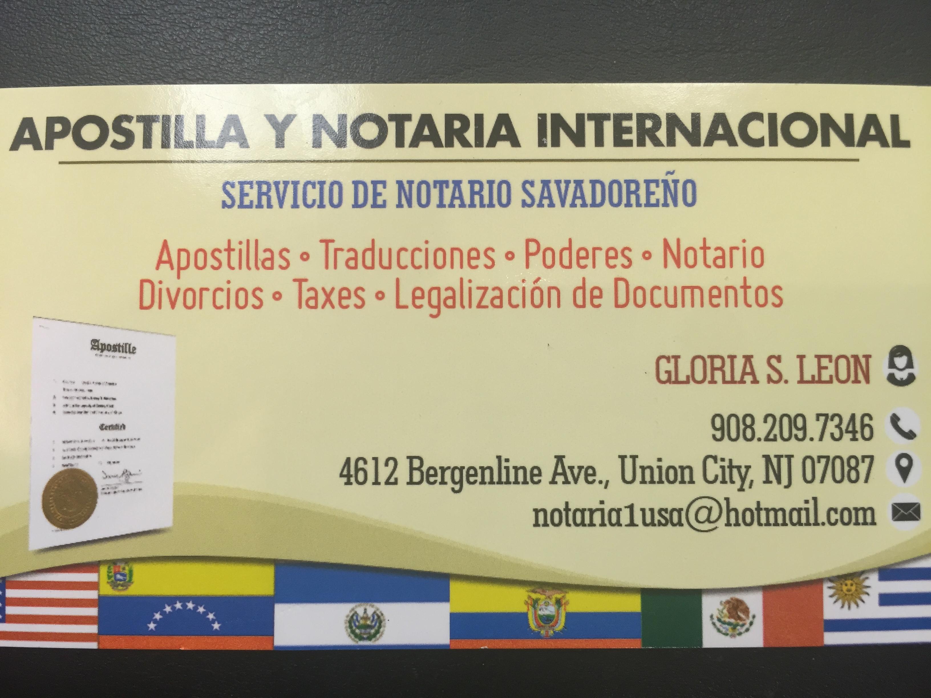 Apostilla Y Notaria Internacional 4612 Bergenline Ave, Union City ...
