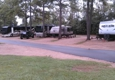 Tallahassee RV Park - Tallahassee, FL. Not concrete pad.....but very level!And easy pull through!