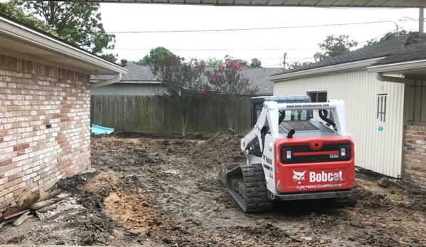 Doty Pool Destruction - Houston, TX. Grading the Land