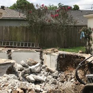 Doty Pool Destruction - Houston, TX. During Removal