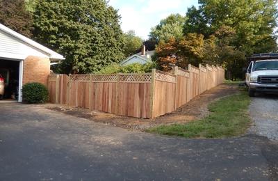 B M W Fences - Harrisburg, PA. New cedar fence