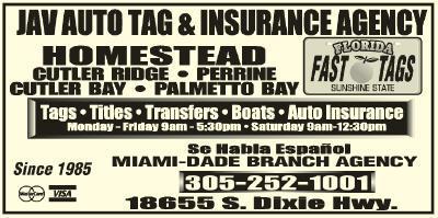 JAV Auto Tag Agency Cutler Bay, FL 33157 - YP.com