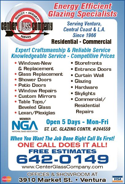 Center Glass Co 3910 Market St Ste A Ventura Ca 93003