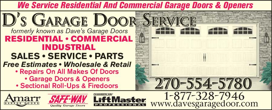 D S Garage Door Service 1352 Piedmont Rd Paducah Ky 42001 Yp Com