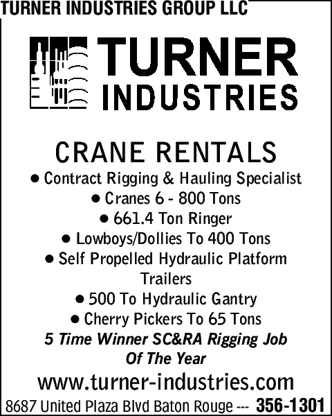 Turner Industries Group Llc 2865 Mason Ave Baton Rouge La 70805